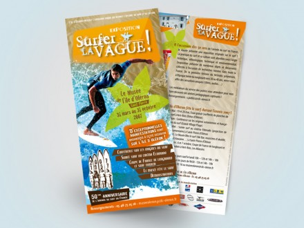 Exposition Surfer la Vague - Flyer