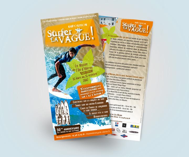 Exposition Surfer la Vague - Flyer