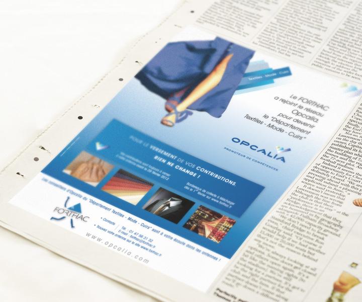 Opcalia - Pub pour le  Journal du Textile