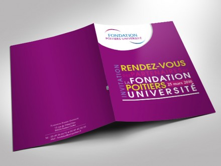 Fondation Université Poitiers - Invitation