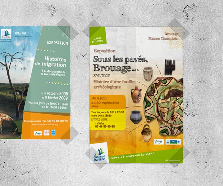 Conseil Général de la Charente-Maritime - Poster exposition fouilles
