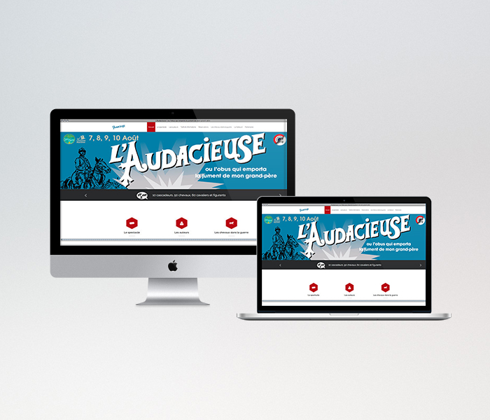 Site internet de l'Audacieuse