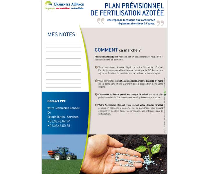 Charentes Alliance Plan prévisionnel fiche