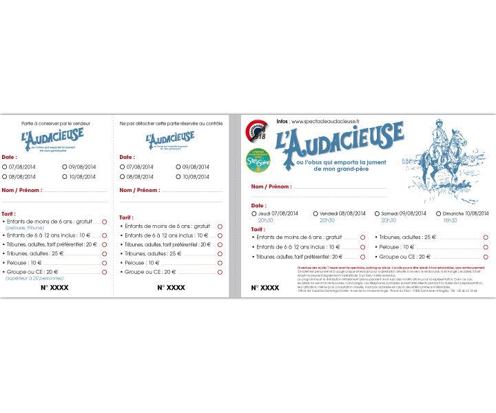 Tickets de l'Audacieuse