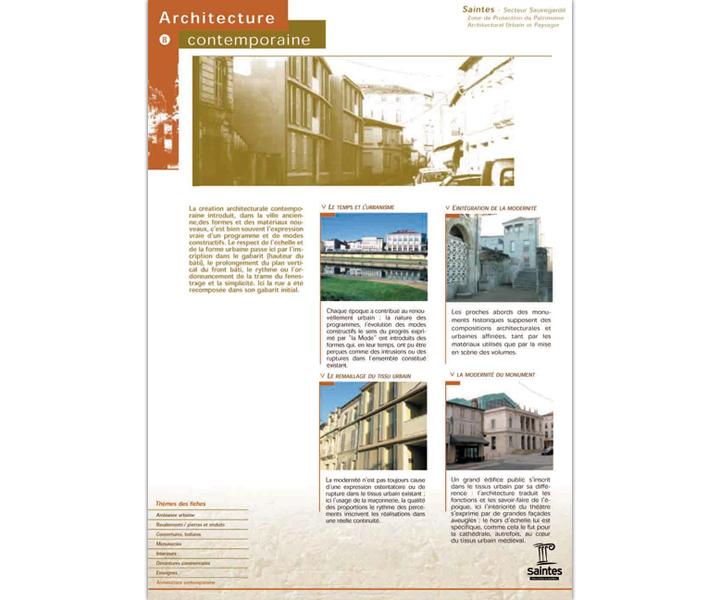 Ville de Saintes fiche architecture