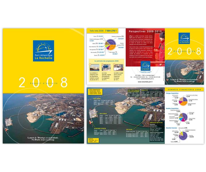 Port atlantique La Rochelle rapport d'activité 2008