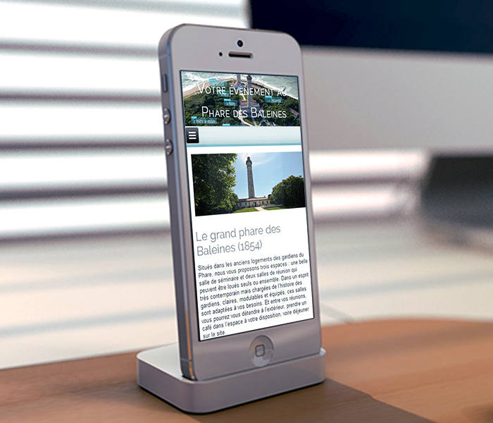 Site Internet Phare des Baleines Evénements smartphone