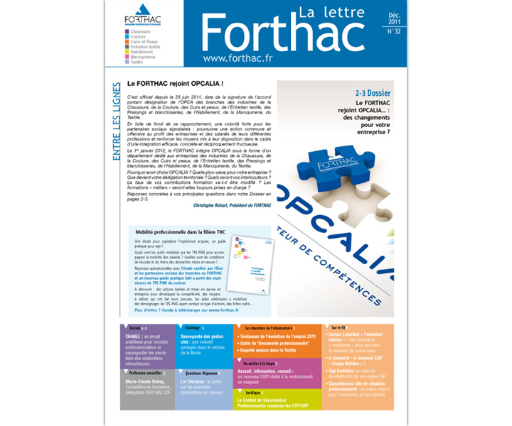 OPCA FORTHAC lettre