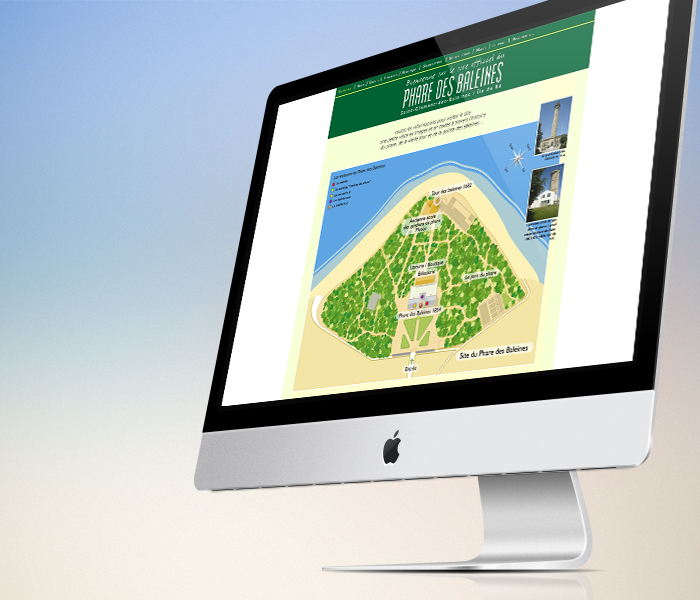 Site internet Phare des Baleines