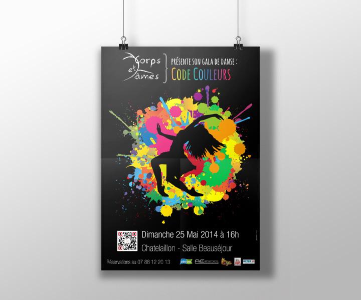 Corps et âmes - Affiche du gala de fin d'année scolaire 2014