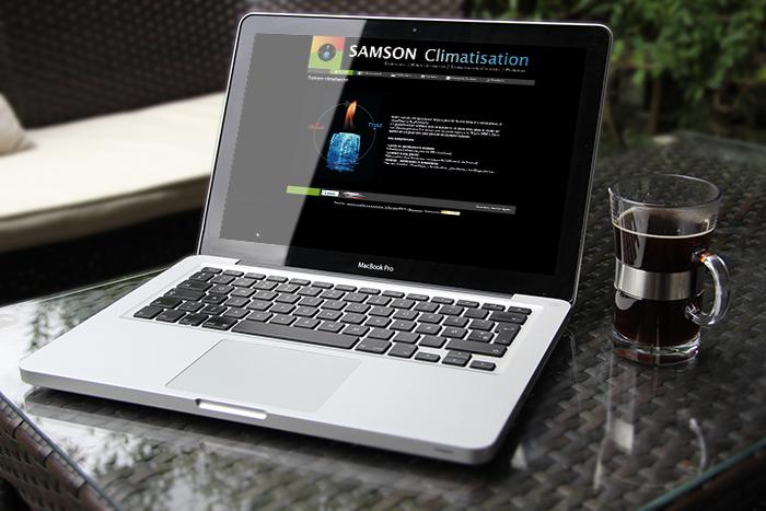 Site internet Samson Climatisation