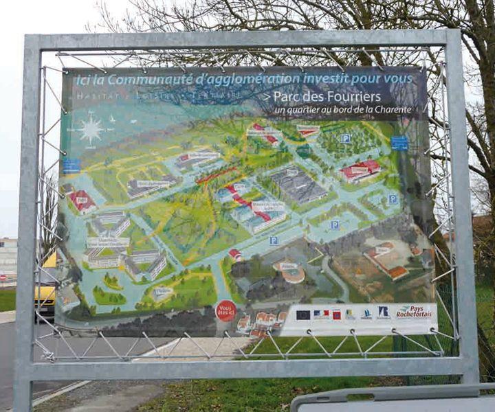 Communauté d'agglomération de Rochefort panneau mise en situation