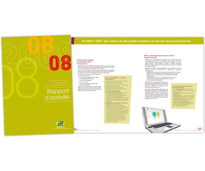 OPCA PL rapport d'activité 2008