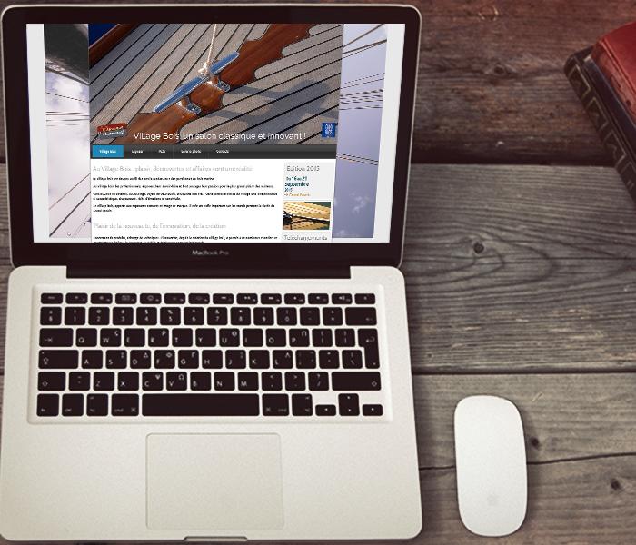 Site internet version desktop du Village Bois