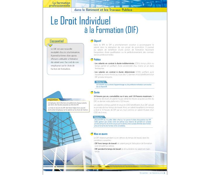 GFC BTP fiche droit individuel